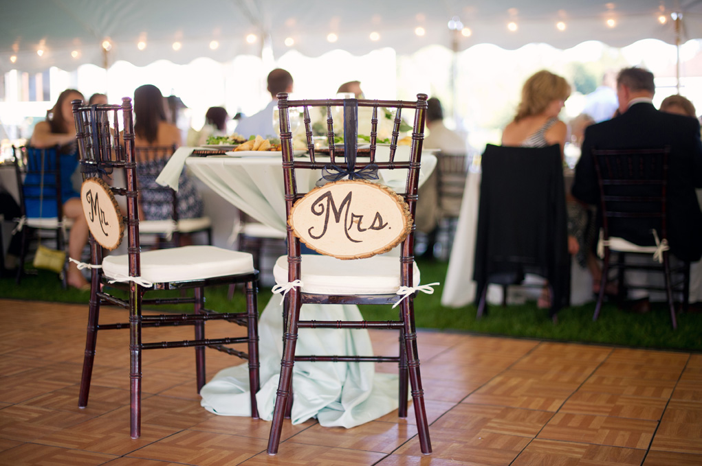 Mr. and Mrs. Sweetheart Table | Northern Michigan Wedding Planning and Decor | Tableau Events