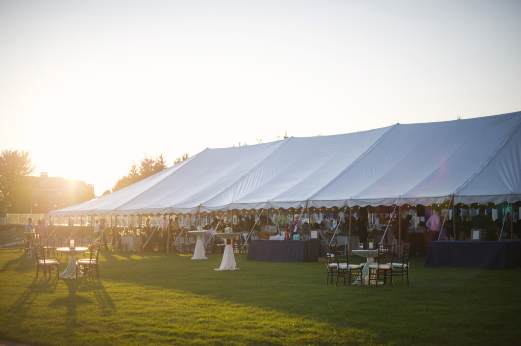 Tented Lake Lawn Wedding Reception | Tableau Events