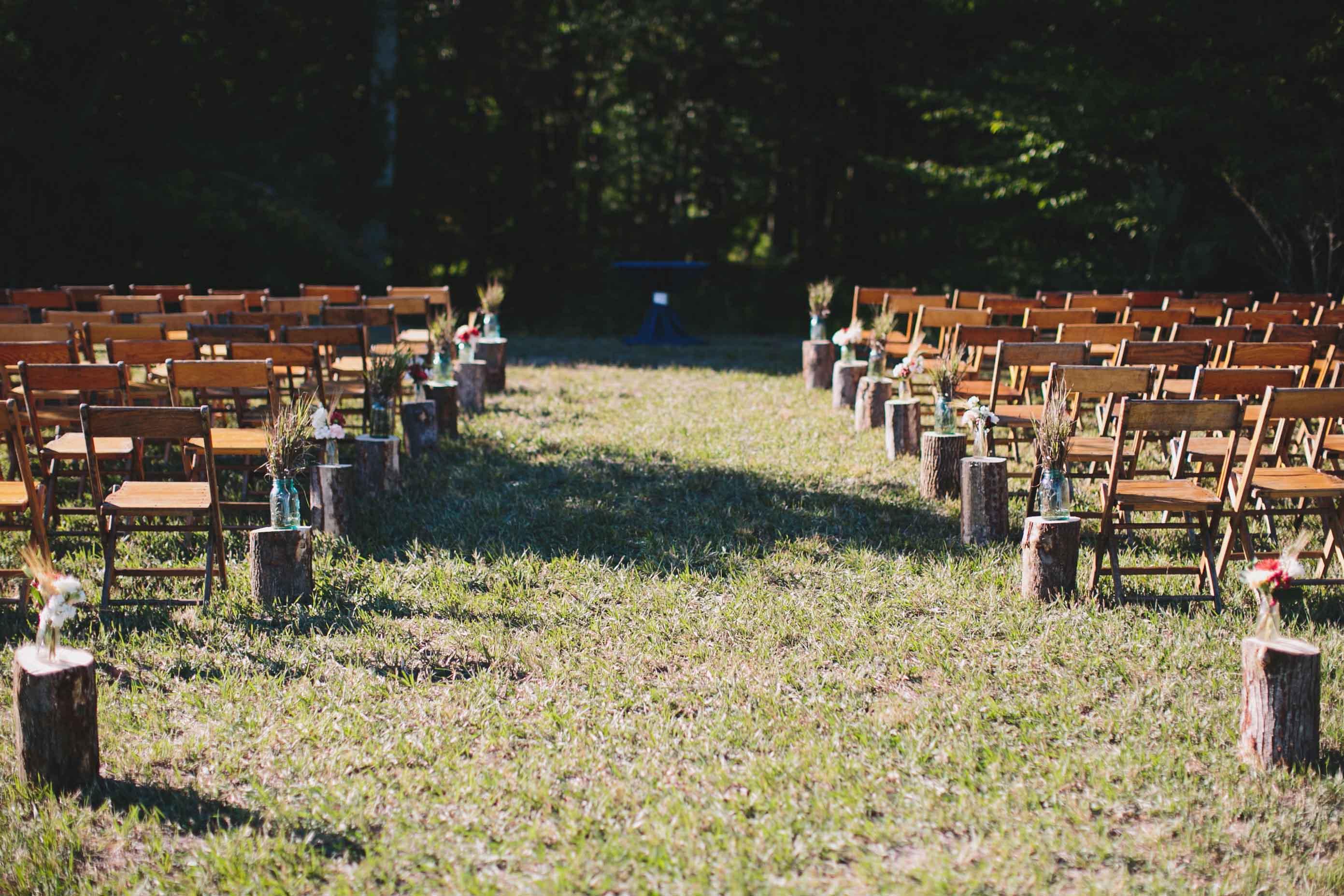 Fall Wedding | Rustic Wedding Ceremony | Tableau Events