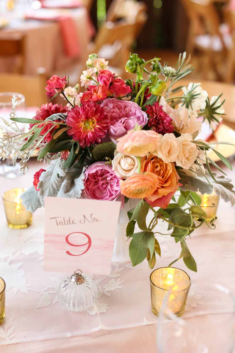 Table Numbers | Colorful Flowers | BLOOM | Tableau Events