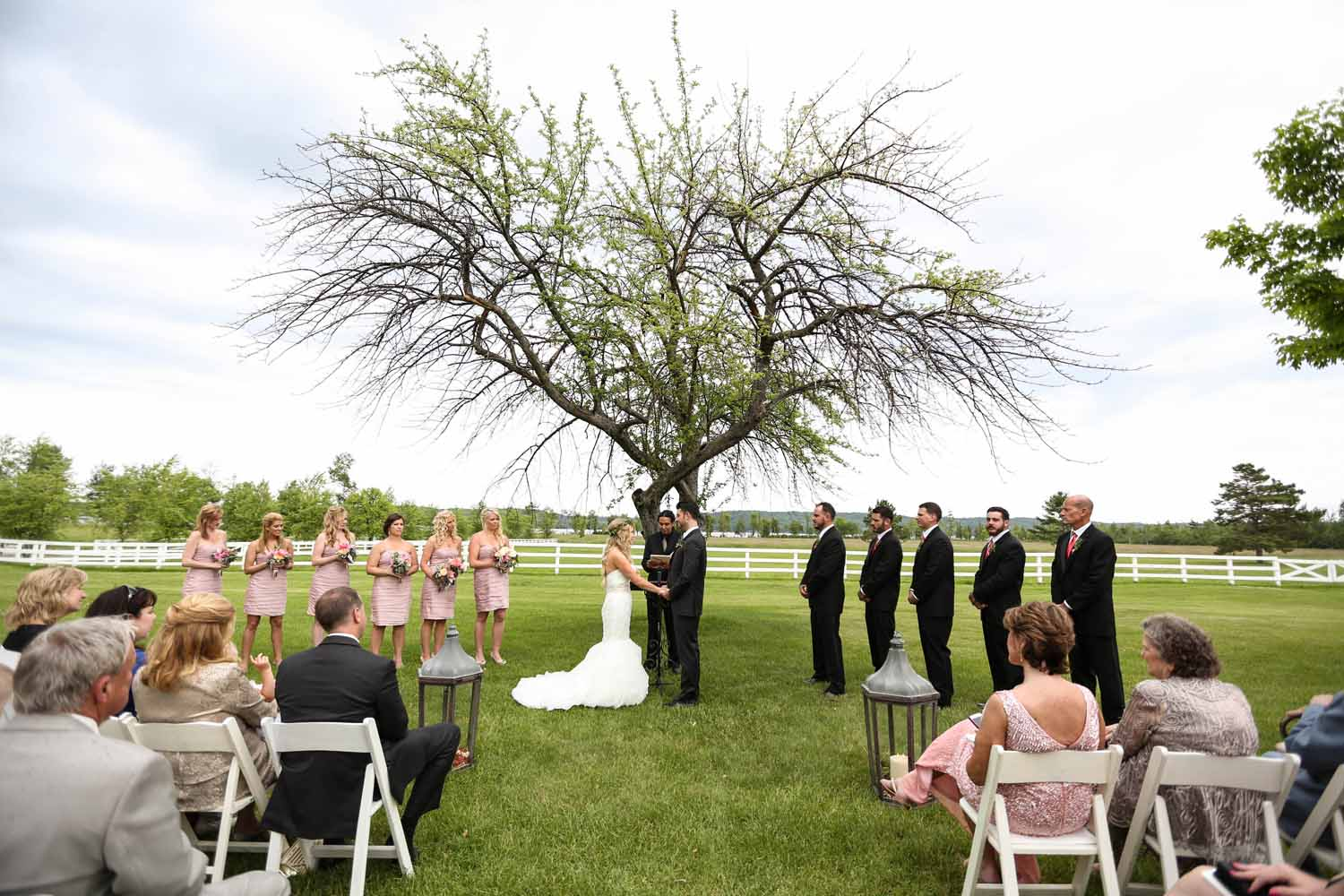 Field and Tree Ceremony | Northern MIchigan Outdoor Wedding | Tableau Events