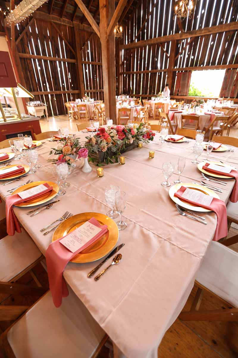 Blush Tablecloths | Northern Michigan Wedding Planning and Design | Tableau Events
