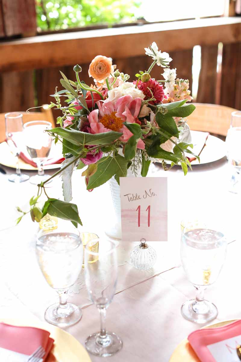 Table Numbers | Floral Arrangements | Tableau Events