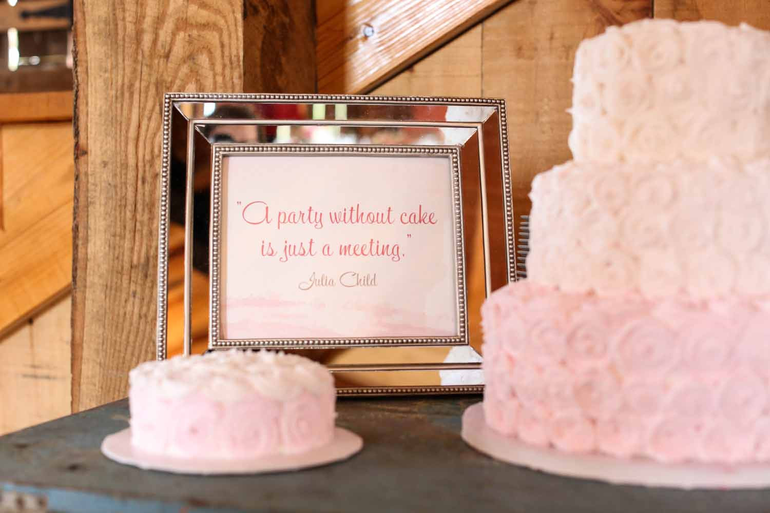 Pink Wedding Cake | Tableau Events