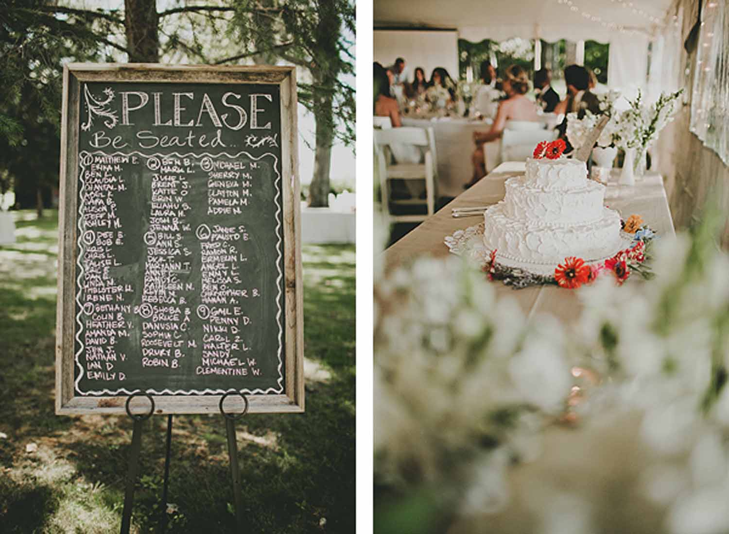 Chalkboard Seating Chart | Wedding Cake | Tableau Events