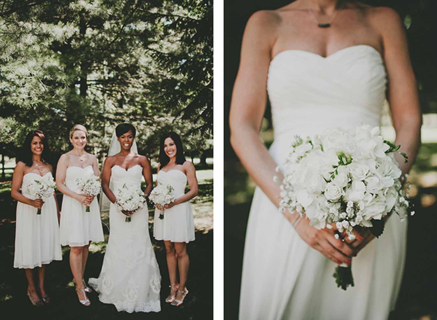 Bridal Party | White Flowers | BLOOM | Tableau Events