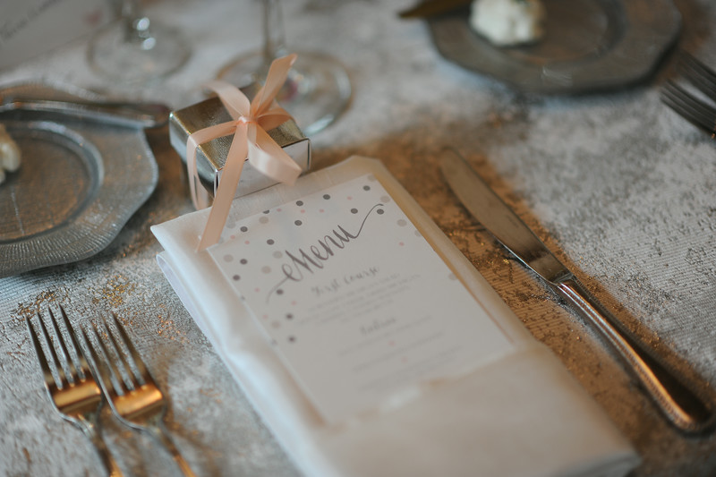Custom Printed Menu | Tableau Events