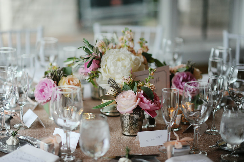 Blush Light Pink Dark Pink Flower Inspirations | Tableau Events