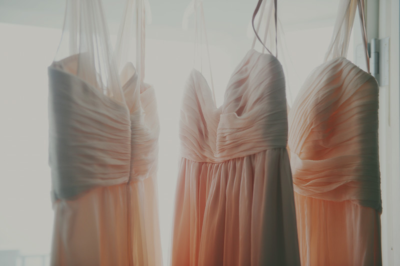 Blush Bridesmaids Dresses | Gowns | Tableau Events