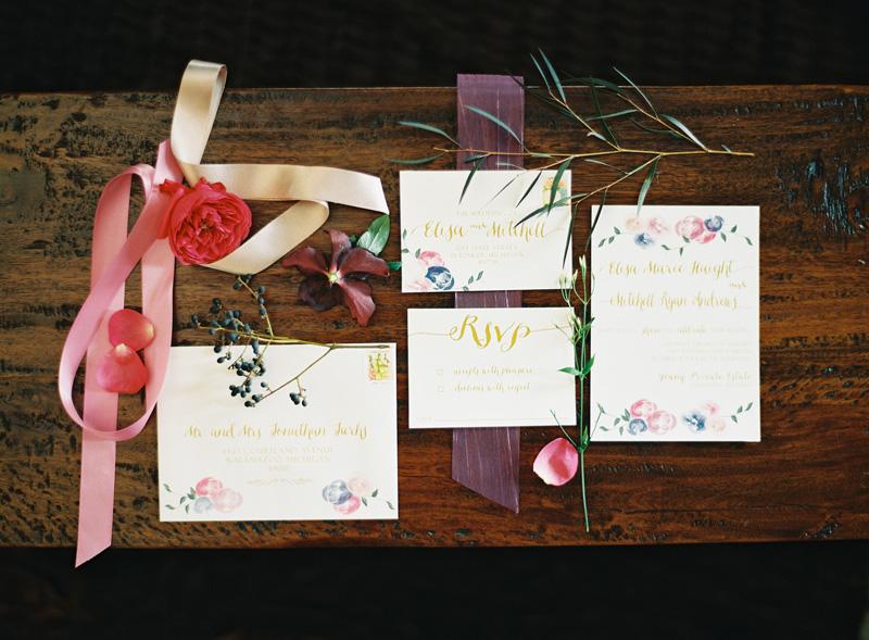 Winter Wedding Invitations | Dark Wood Accents | Tableau Events