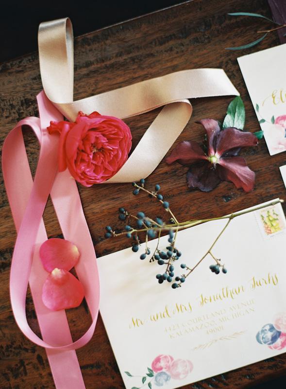Custom Wedding Invitations | Ribbon Accents | Tableau Events