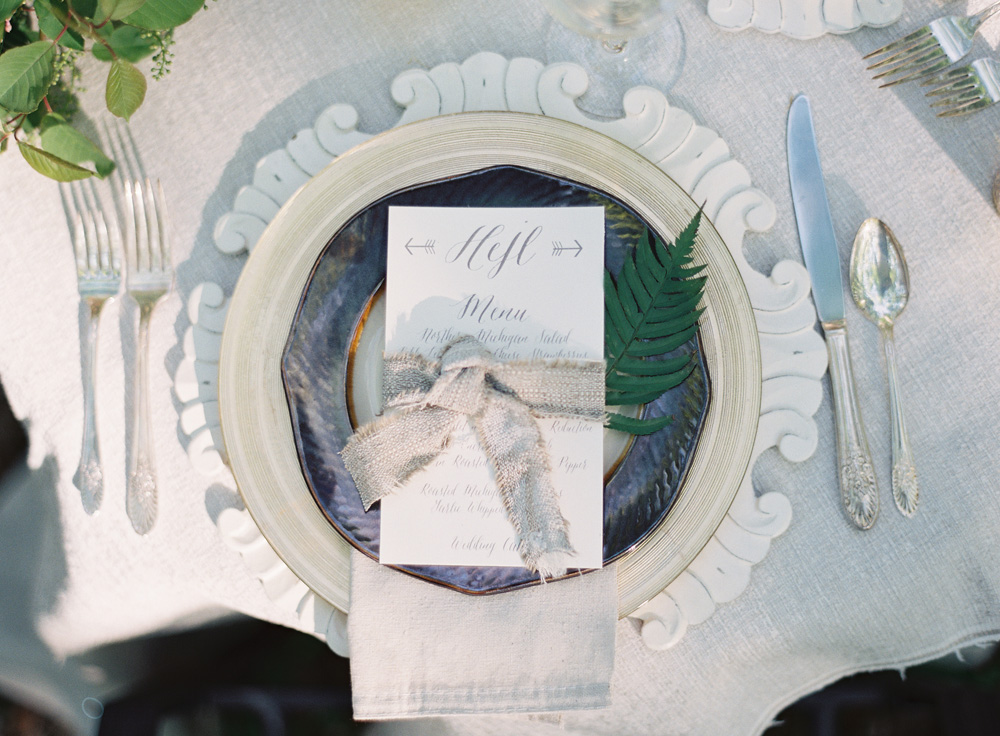 Decorative Charger Plate | Menu | Tableau Events