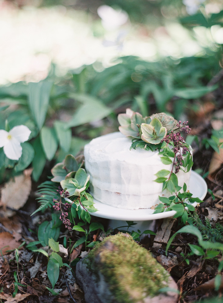 Northern Michigan Elegant Forrest Wedding Cake | Tableau Events