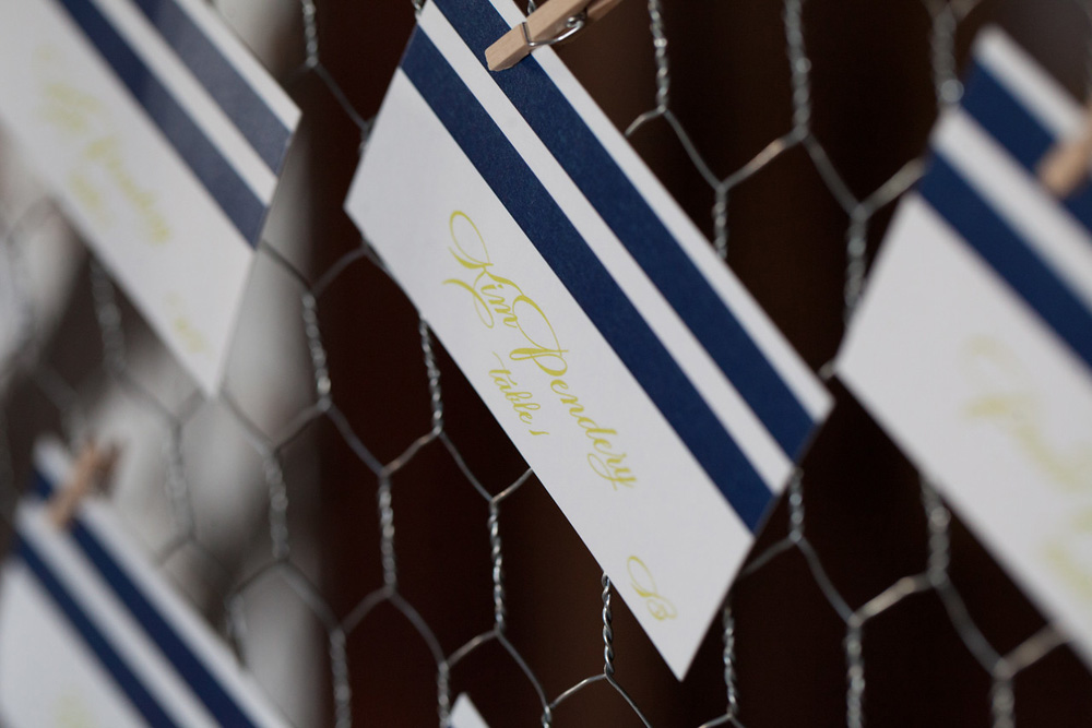 Place Cards | Navy Stripe | Tableau Events