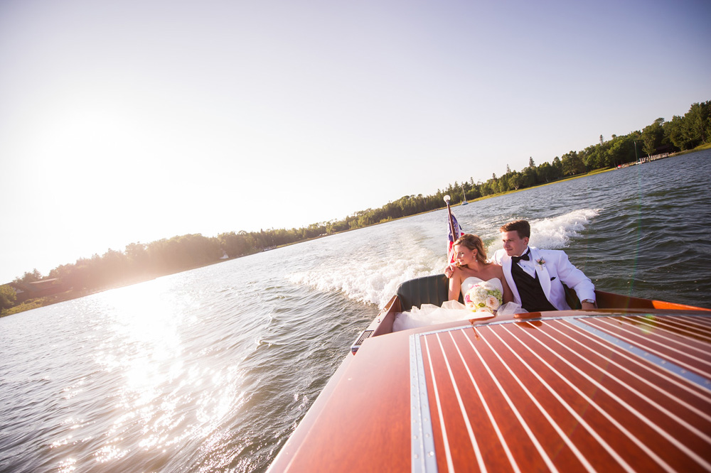 Classic Wooden Boat   Northern Michigan Wedding   Tableau Events