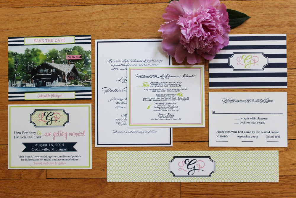 Letterpress invitations Michigan | Tableau Events