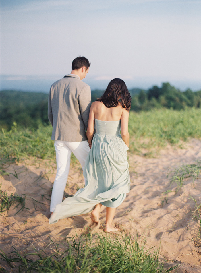 Outdoor Summer Beach Wedding | Sea Glass Blue Dress | Tableau Events