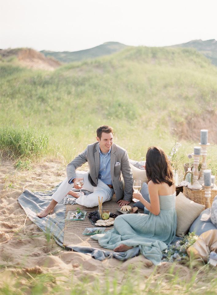 Island Beach Wedding Picnic | Northern Michigan | Tableau Events