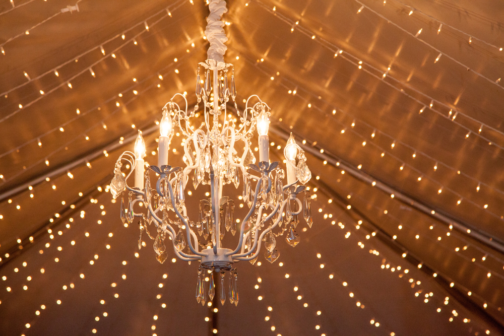 Twinkle Lighting | Chandelier | Tent | Northern Michigan Wedding | Tableau Events