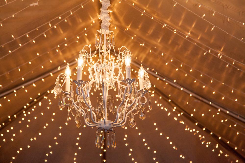 Twinkle Lighting | Chandelier | Tent | Northern Michigan Wedding | Tableau Events