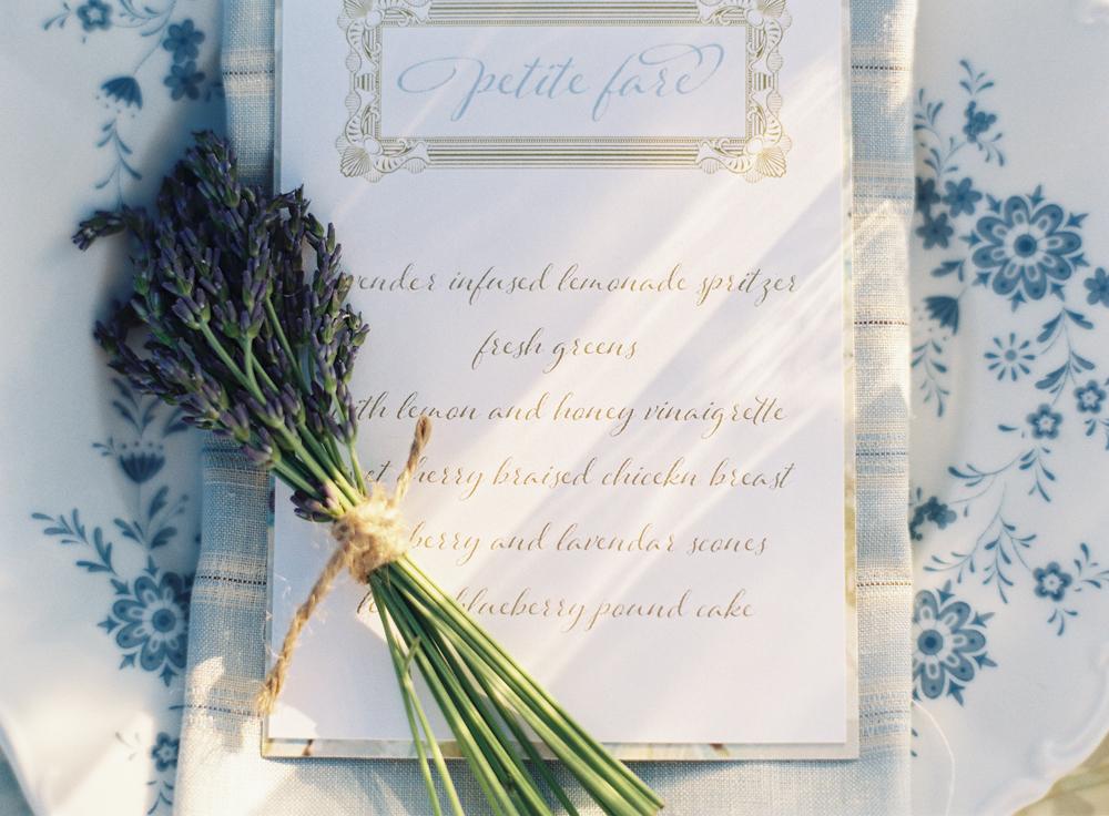 Custom Printed Menu | Tableau Events