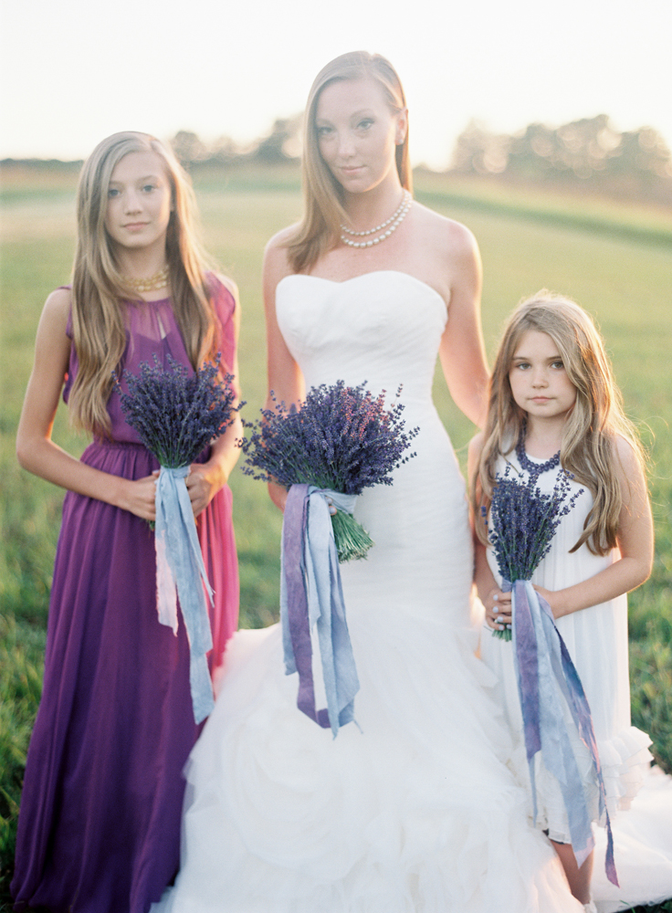 Flower Girls | Lavender Bouquets | Bloom Floral Design | Tableau Events
