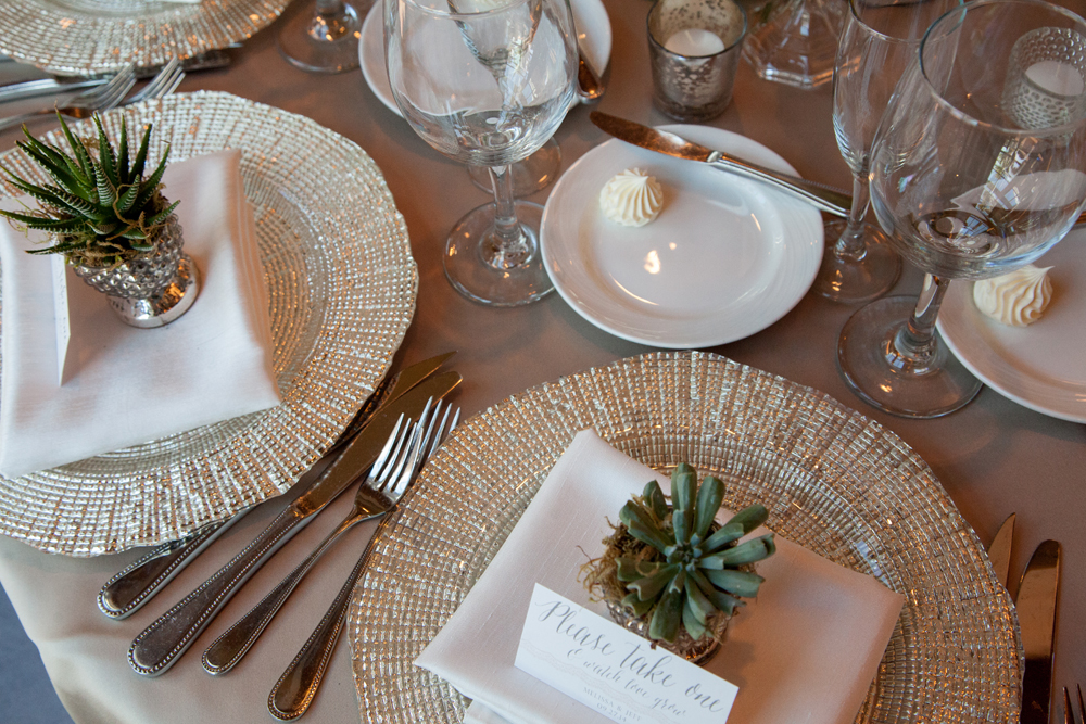 Charger Plates | Northern Michigan Wedding | Tableau Events