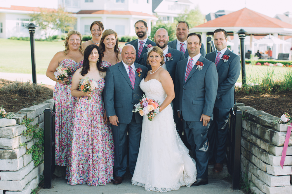 Northern Michigan Wedding | Floral Gowns | Bridesmaids | Tableau Events