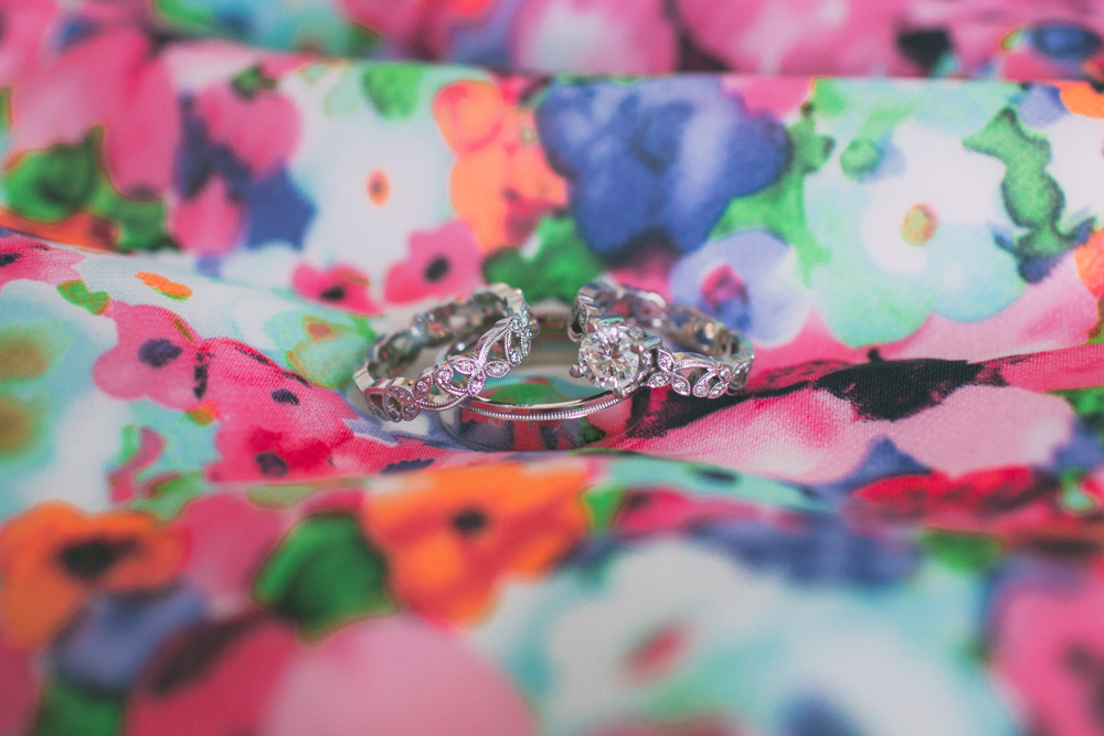 Wedding Rings | Floral Print | Tableau Events