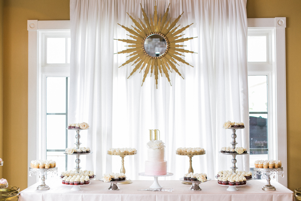 Dessert Presentation | Gold Accents | Tableau Events