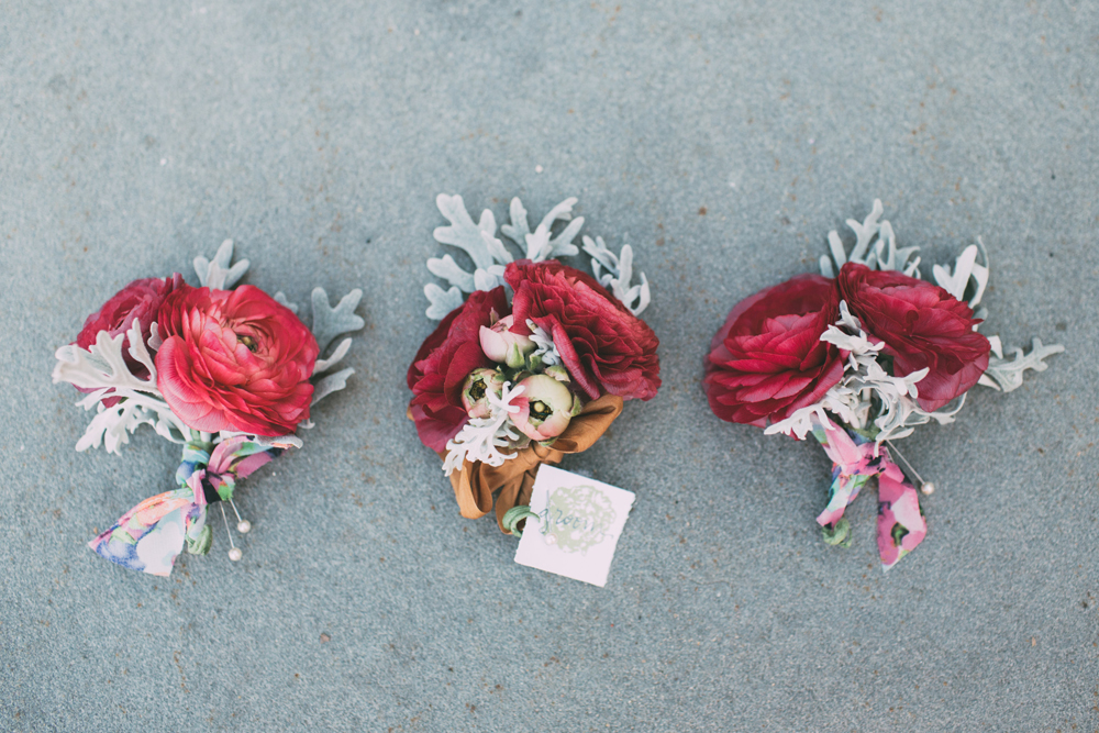 Simple Red Boutonniere | Northern Michigan Wedding | Tableau Events