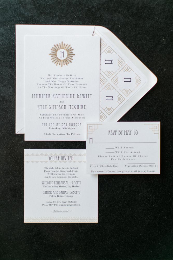Custom Wedding Invitation | Monogram | Tableau Events