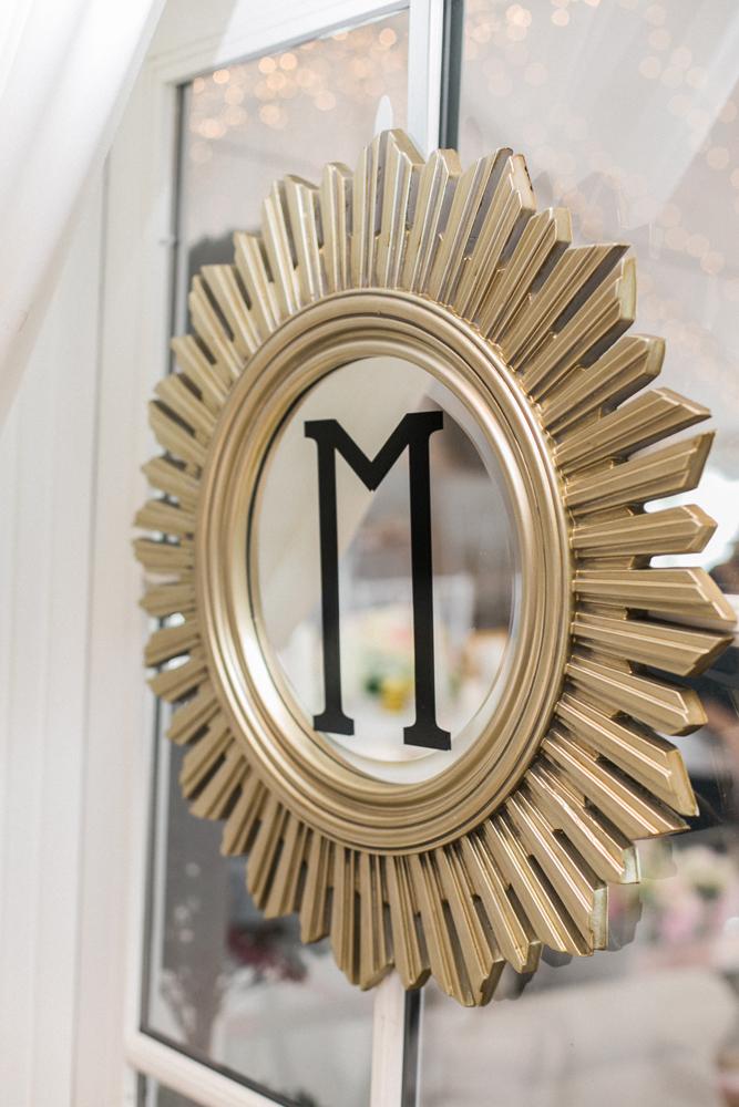 Custom Initial Wedding Sign Mirror | Tableau Events