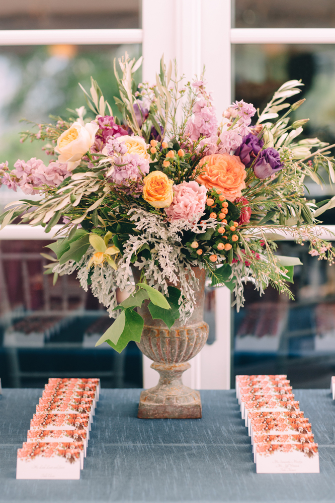 Focal Point Floral Arrangement | Place Cards | Tableau Events