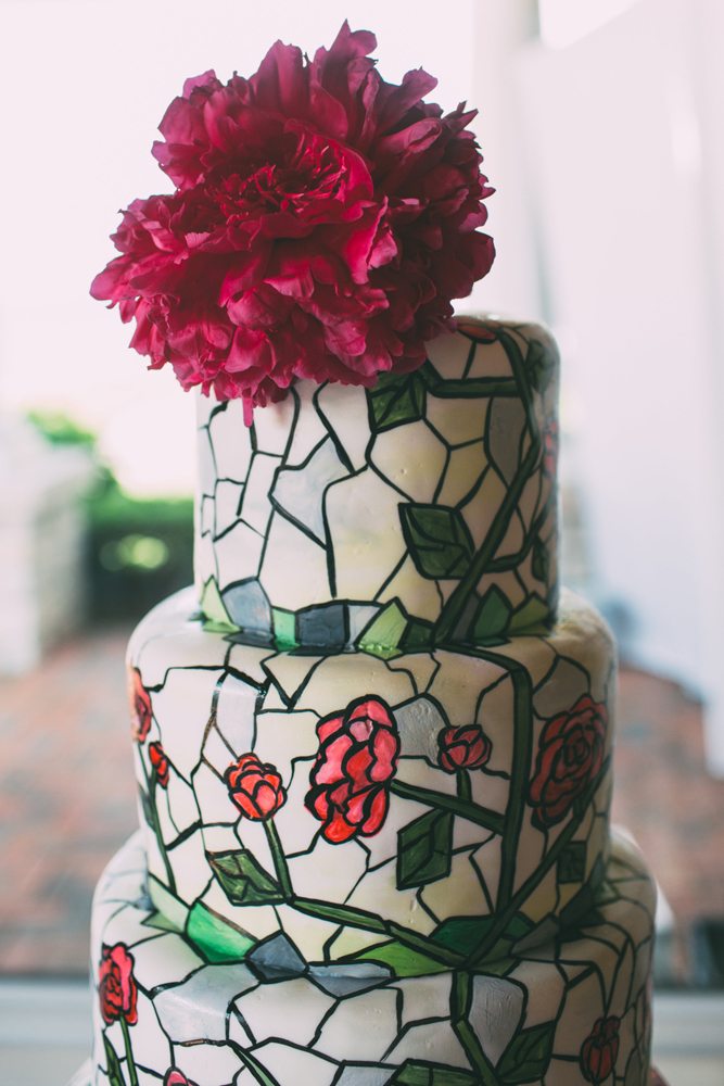 Stained Glass Inspiration | Wedding Cake Flowers | Tableau Events
