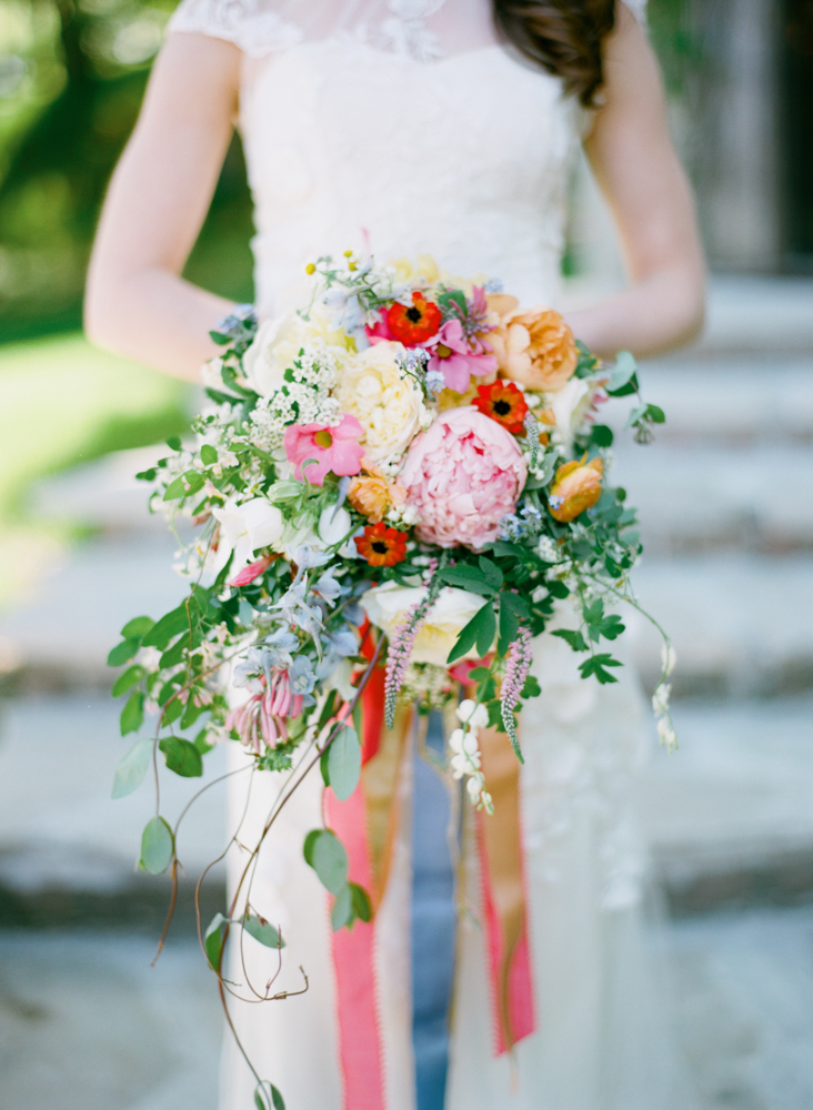 Colorful Bridal Bouquet with Ribbons | Bloom Floral Design | Tableau Events