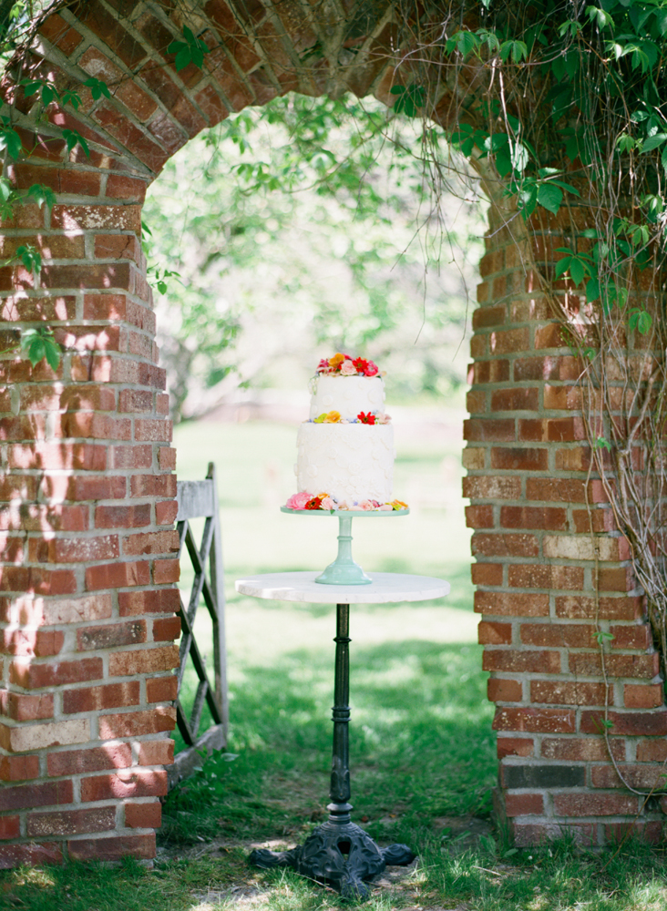 Northern Michigan Garden Cake | Brick Accents | Tableau Events
