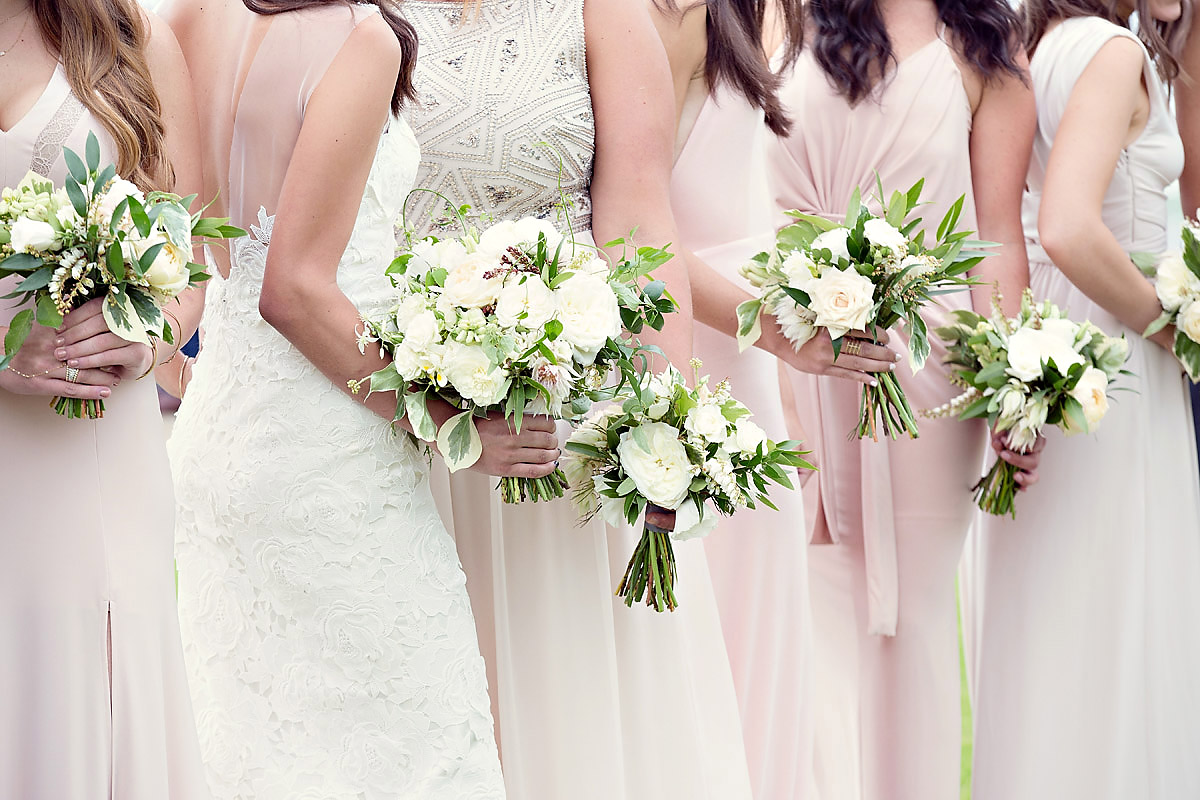 Bridesmaids Bouquets | Blush Pink White Cream | Bloom Floral Design | Tableau Events