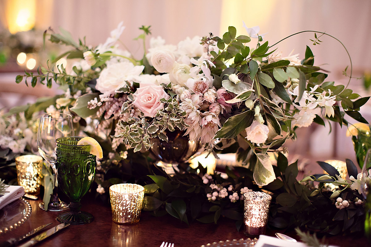 Floral Inspirations | Bloom Floral Design | Glass Mercury Votives | Tableau Events