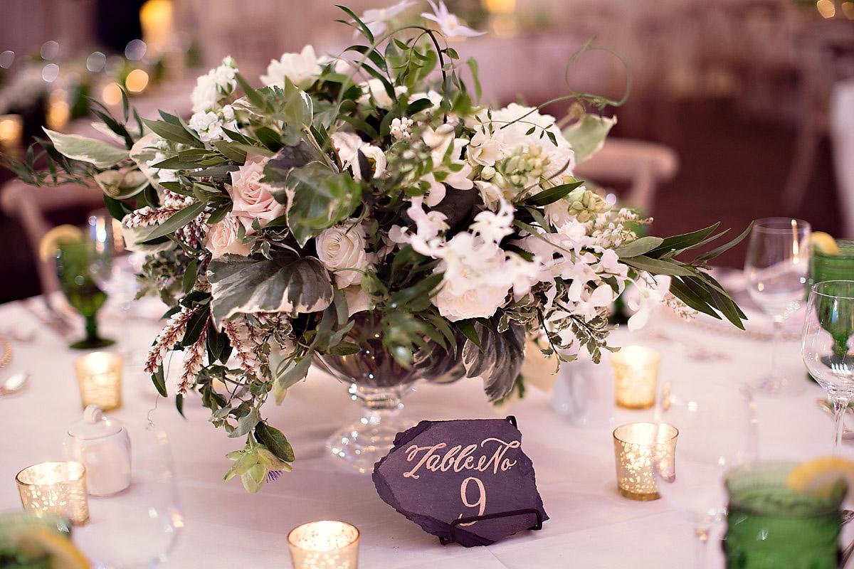 Table Number Inspirations | Bloom Floral Design | Tableau Events