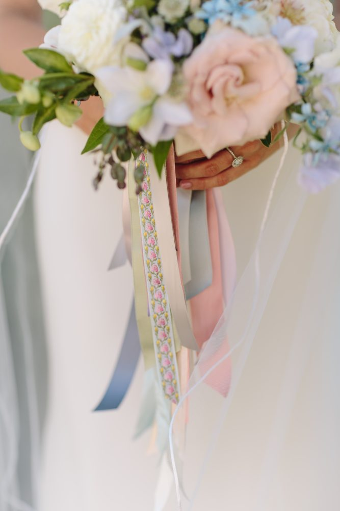 Bouquet Ribbons | Bloom Floral Design | Blush Pink Blue Pastel | Tableau Events