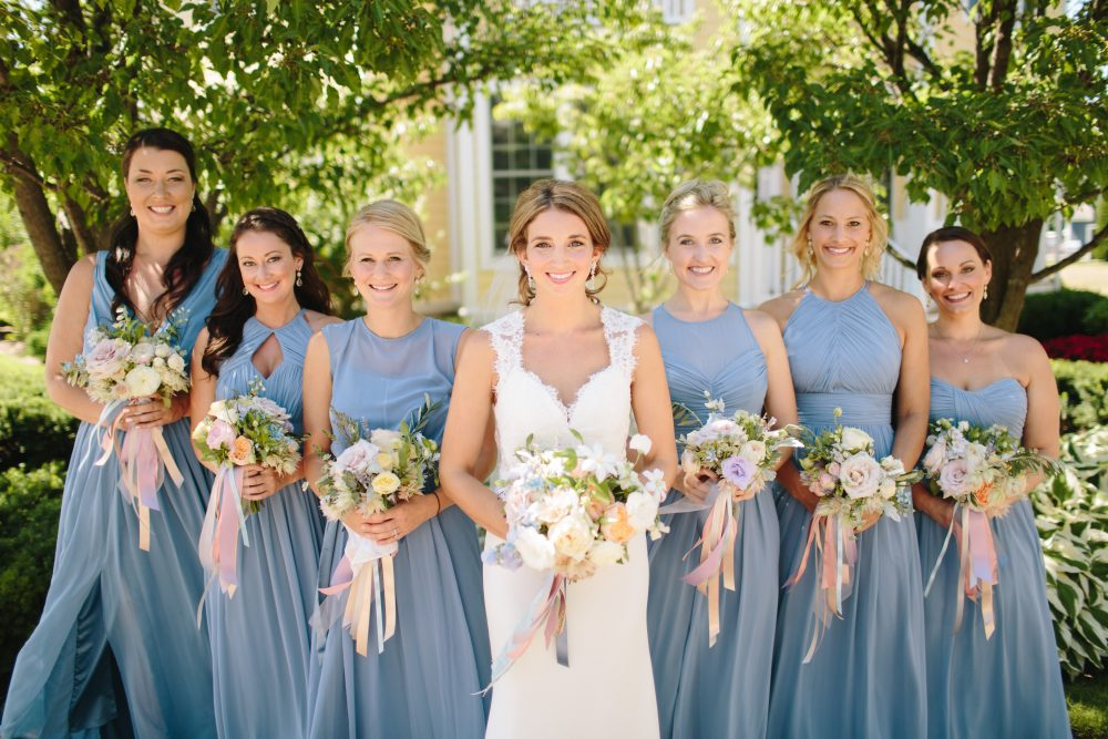 Bridal Party | Blue Dress | Northern Michigan | Tableau Events
