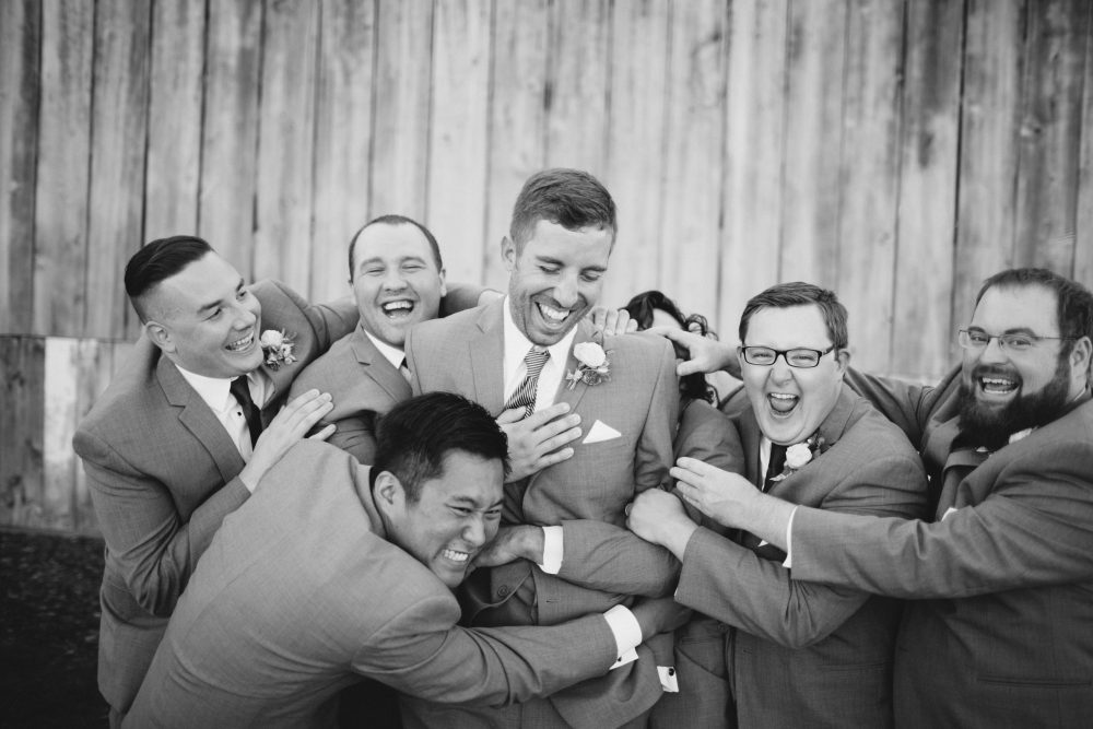 Groomsmen | Candid | Northern Michigan Barn Wedding | Tableau Events