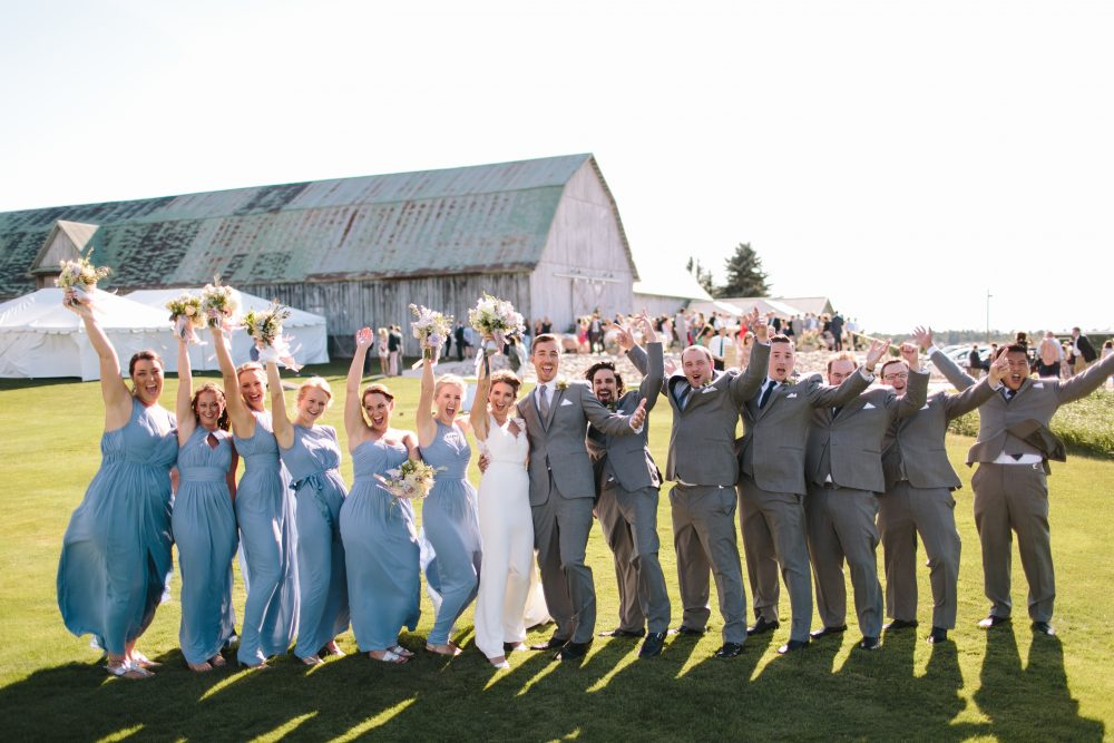 Barn Wedding Party | Northern Michigan Classic Barn | Tableau Events