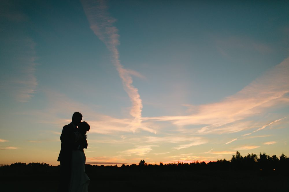 Sunset Wedding | Northern Michigan Barn Wedding | Tableau Events