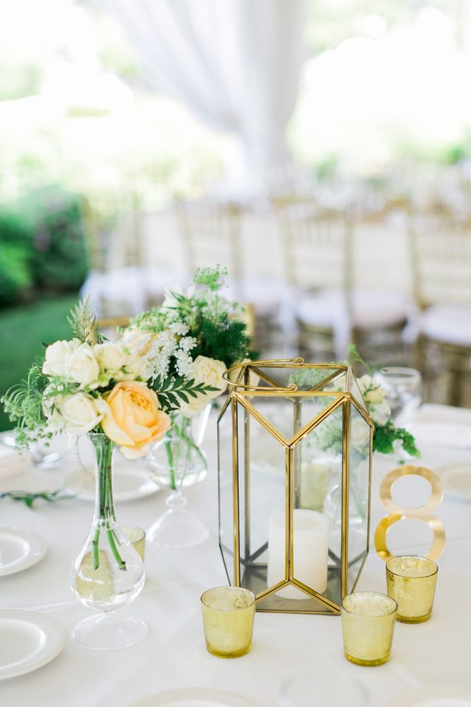 Table Numbers | Gold Accents | Tablescape Decor | Perry Hotel | Petoskey Michigan | Bloom Floral Design | Tableau Events
