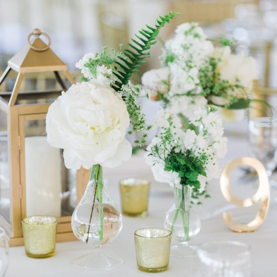 Table Numbers | Gold Mercury Votives | Lanterns | Tableau Events