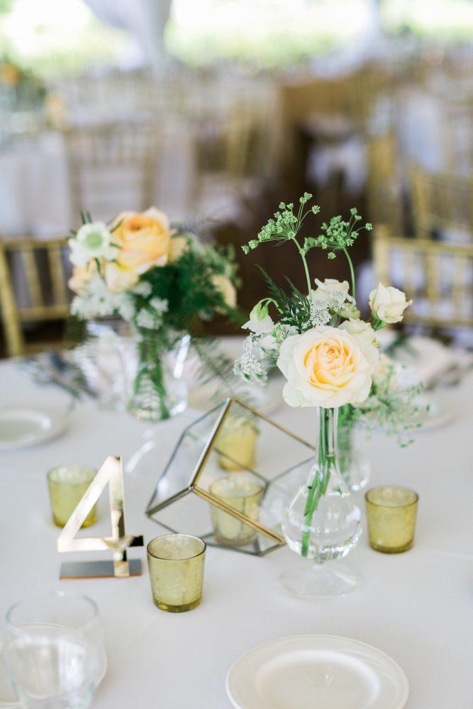Wedding Reception | Simple Centerpieces | Tableau Events