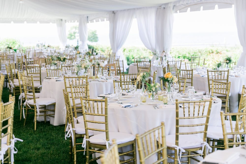 Fabric Draping | Focal Point | Northern Michigan Outdoor Wedding | Tableau Events
