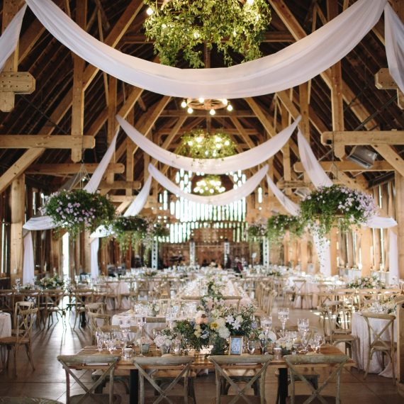 Fabric Drapping | Barn Wedding | Greens | Tableau Events